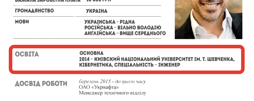 Приклад резюме українською мовою завантажити